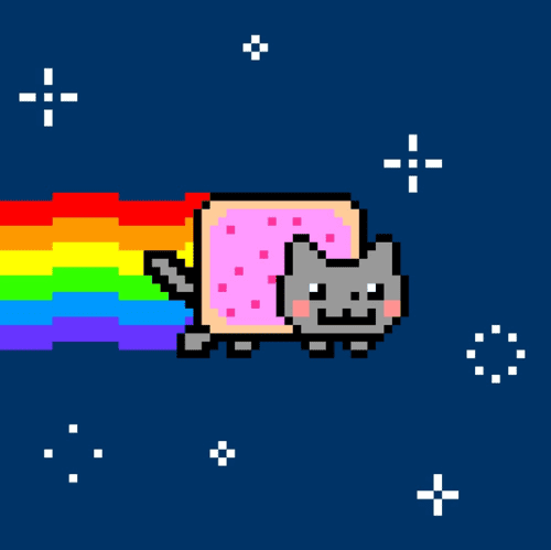 NFT Nyan Cat - by Chris, on Foundation